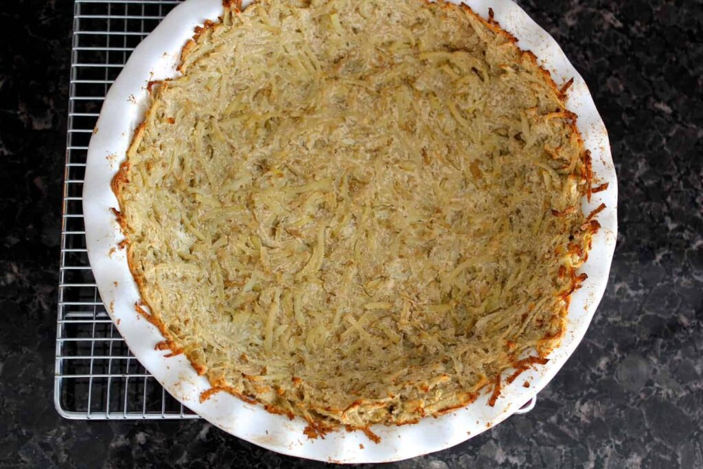 Baked potato crust before being filled