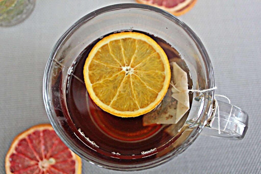 dehyrated orange tea