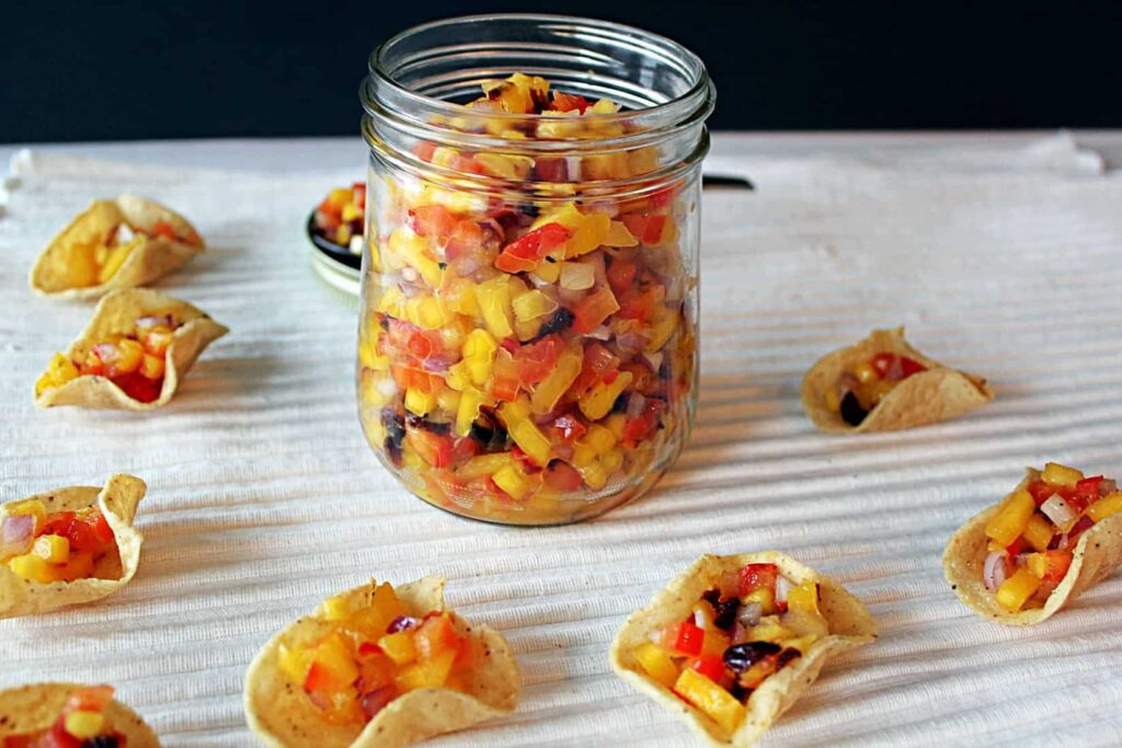 111315 spicy mango cranberry salsa