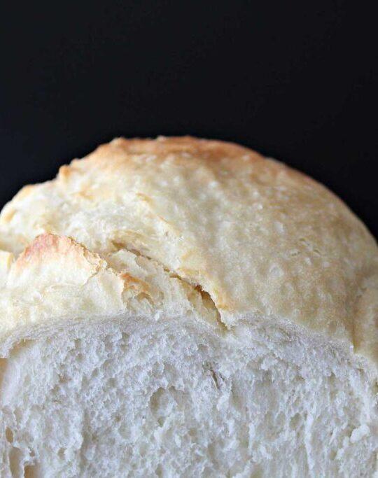 Cross section of bread machine bread.