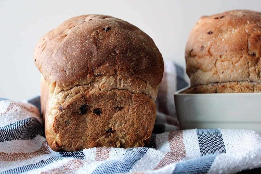 2 loaves of cardamom cranberry bread.