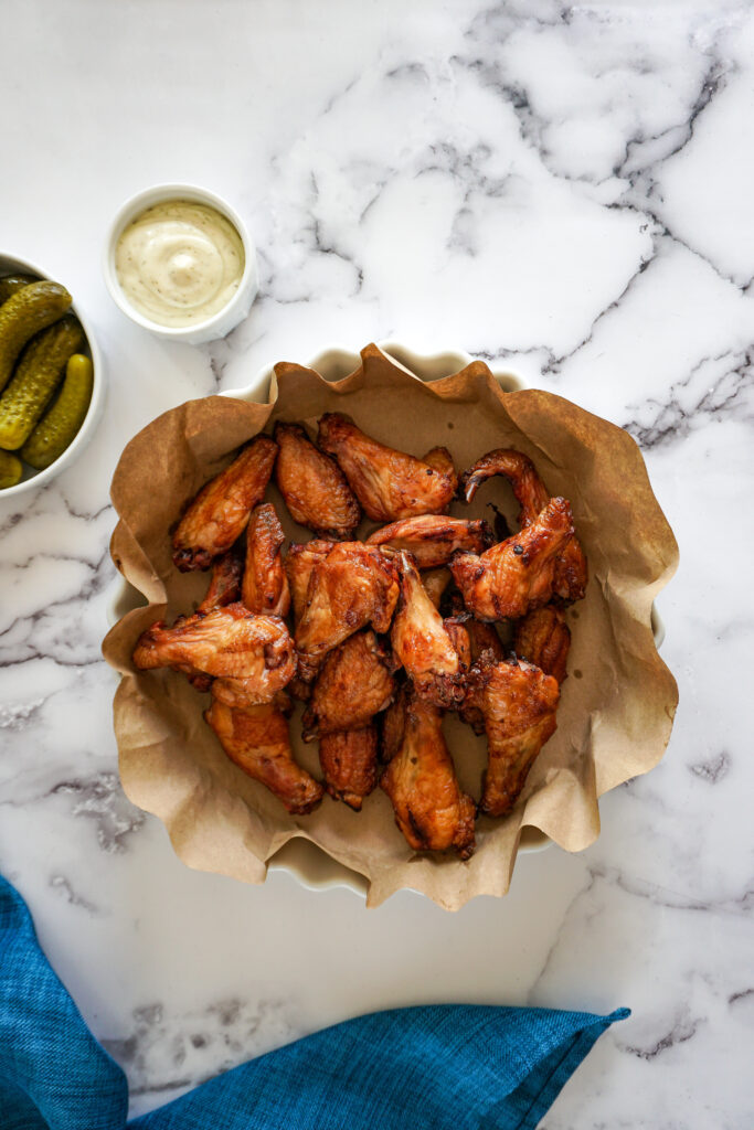 Smoked dll pickle chicken wings