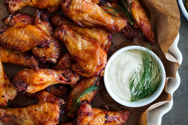 Smoked Dill Pickle Chicken Wings