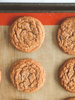 Ginger snaps with a perfectly crackled top.