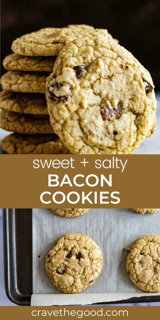 Bacon Chocolate chip cookies pinterest image.