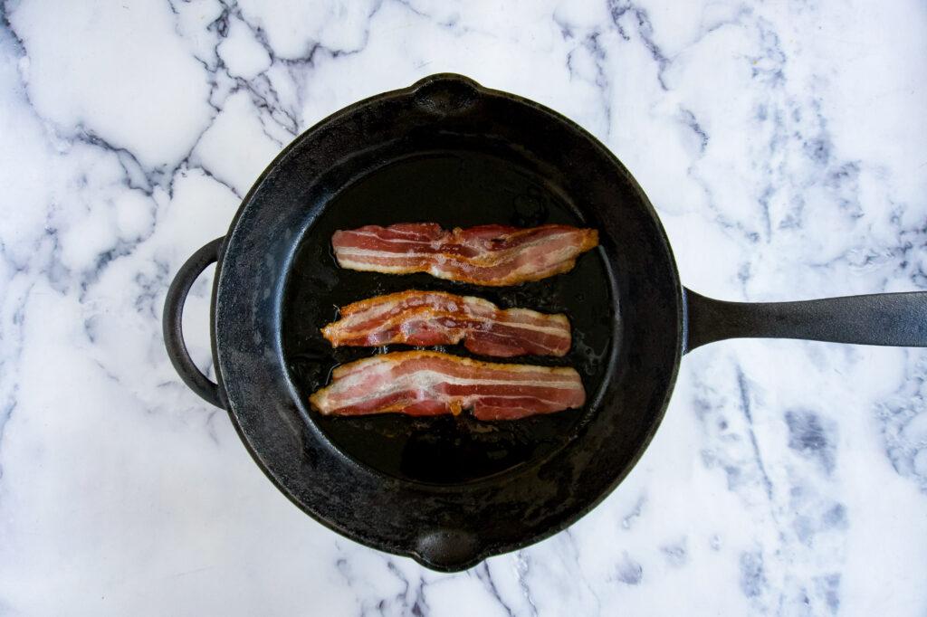 Finished bacon.