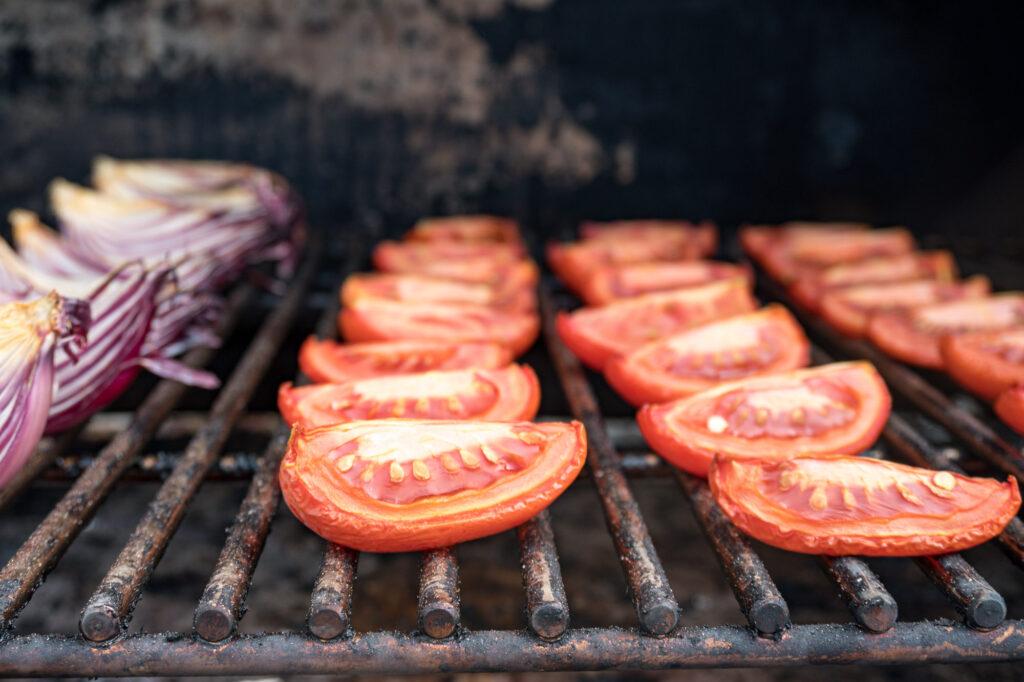 Smoked tomatoes.