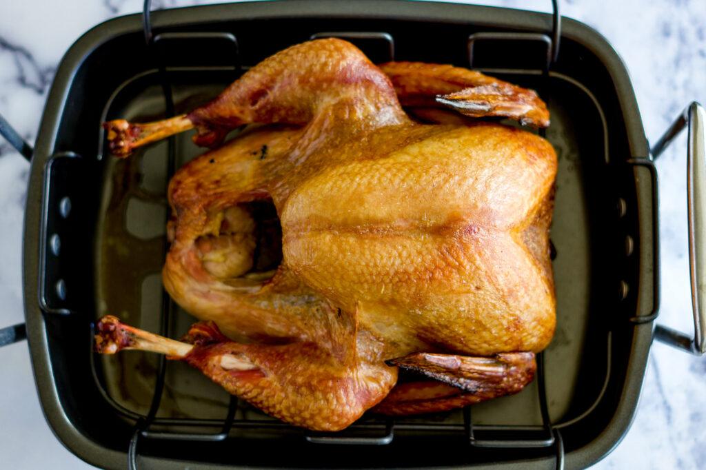Turkey fully smoked.