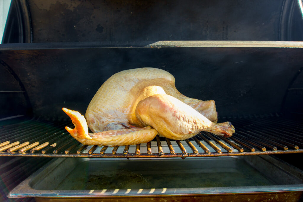 Turkey after 2 hours of low smoke.