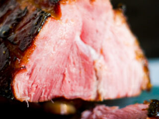 Double smoked ham sliced.