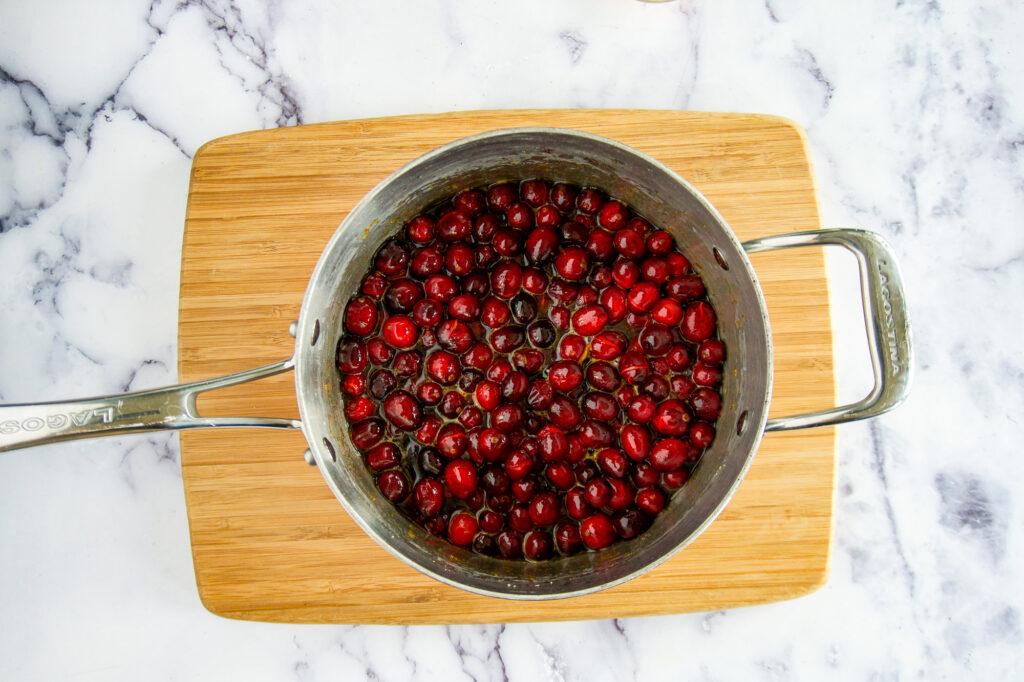 Cranberries starting to burst.