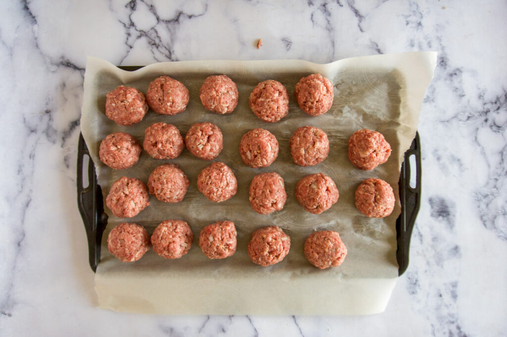 Rolled meatballs.
