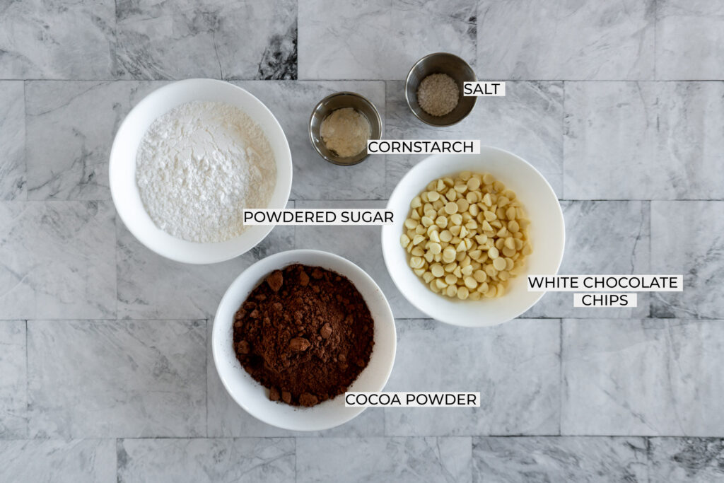 Overhead view of all the ingredients for this recipe.