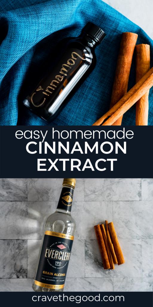 Cinnamon extract pinterest graphic.
