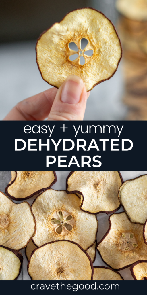 Dehydrated pears pinterest graphic
