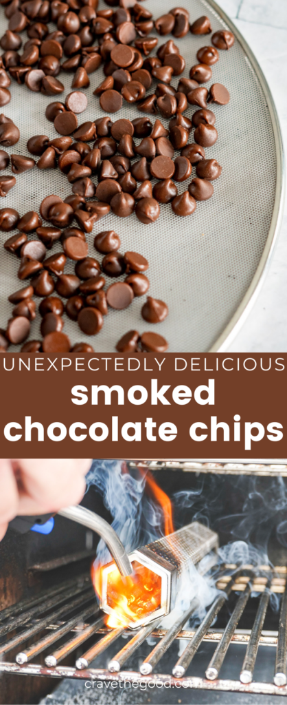 Smoked chocolate chips pinterest graphic.
