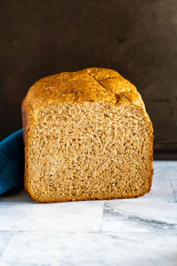 Sliced rye bread.