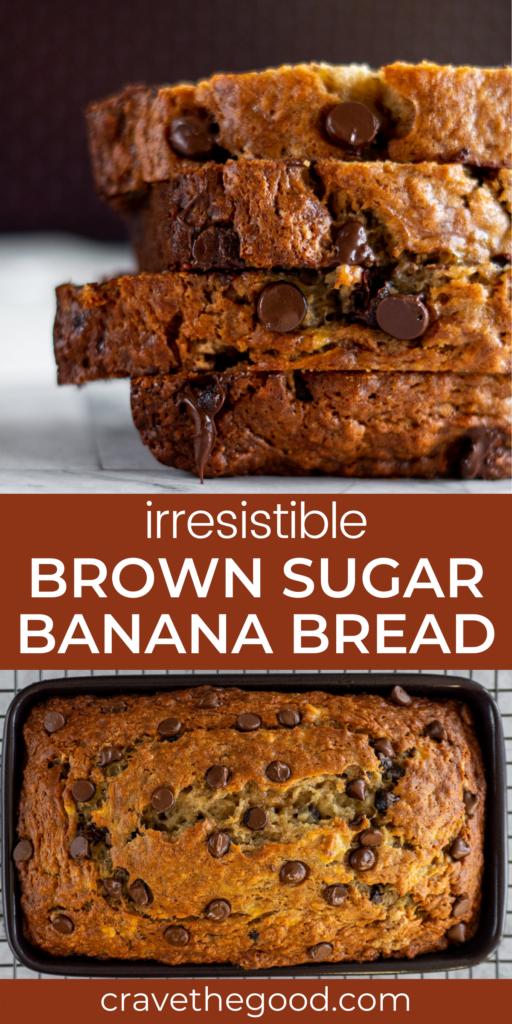 brown sugar banana bread pinterest graphic