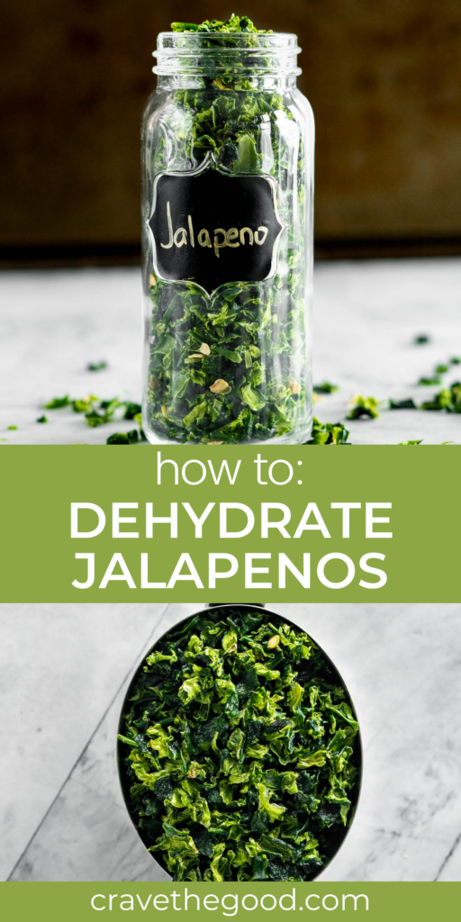 how to dehydrate jalapenos pinterest graphic.