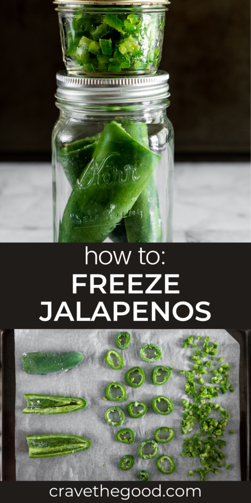 How to freeze jalapenos pinterest graphic.