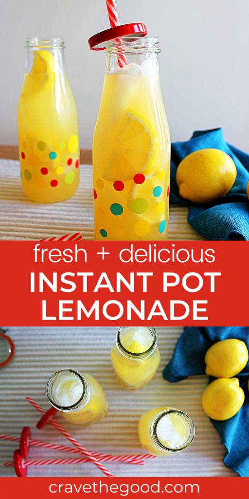 Instant pot lemonade pinterest graphic.