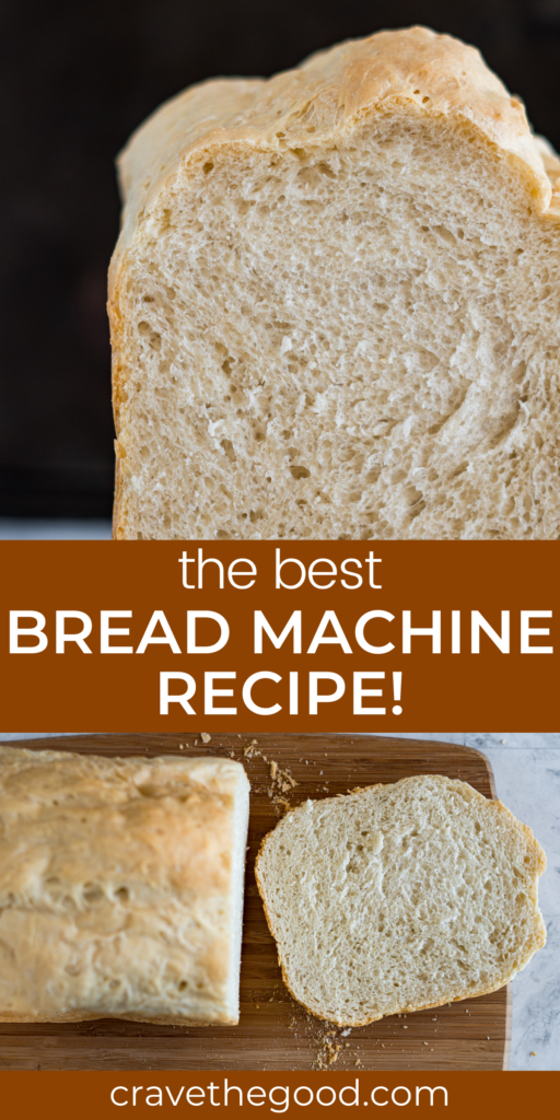 The best bread machine recipe pinterest graphic.