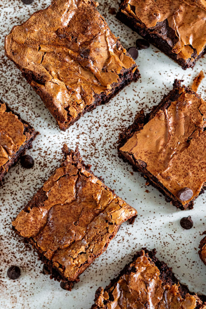 Sourdough brownie squares.