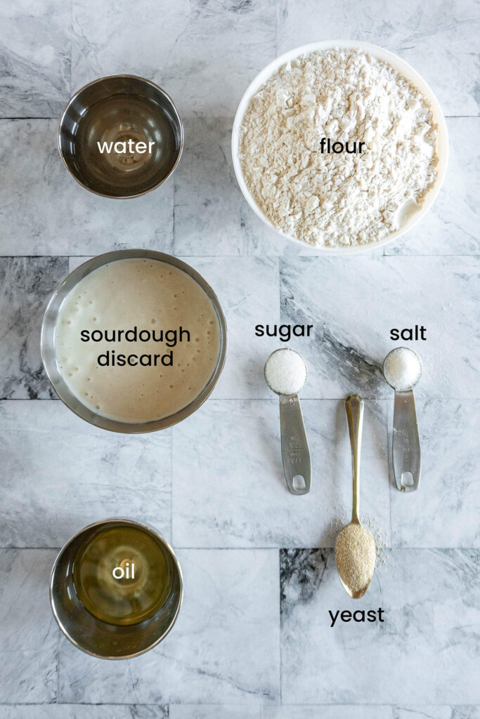 Bread machine sourdough bread ingredients.