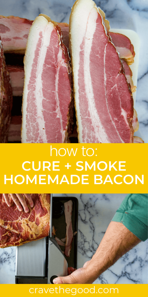 how to cure and smoke homemade bacon.