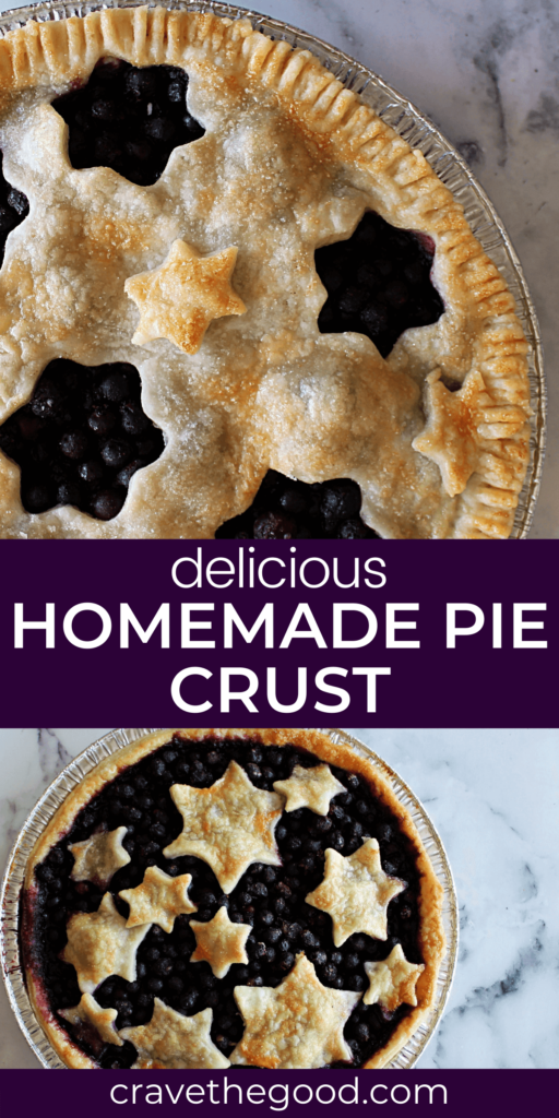 Delicious homemade pie crust pinterest graphic.