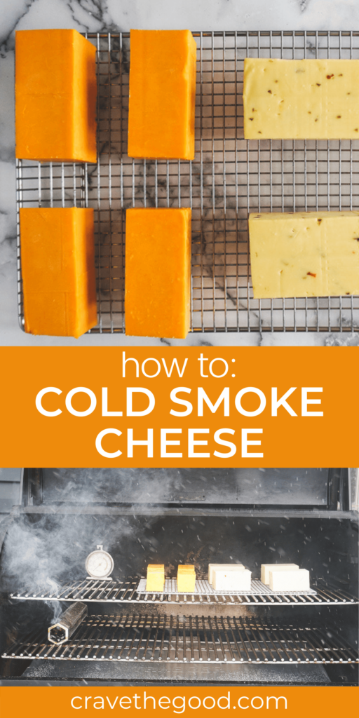 How to cold smoke cheese pinterest graphic.