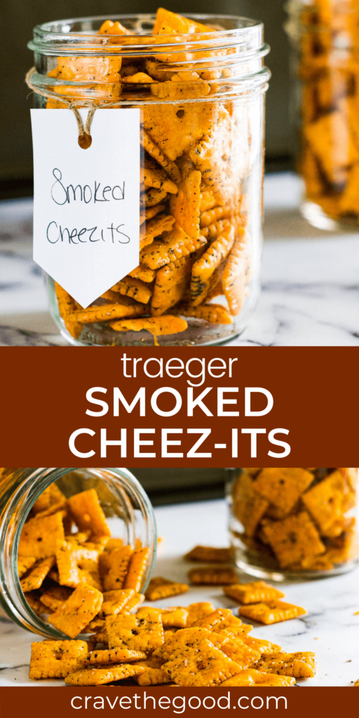 traeger smoked cheez its pinterest graphic.