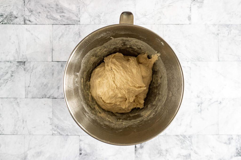 Pretzel dough ready to rise.