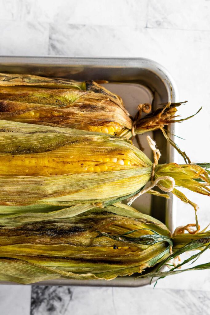 Smoked corn on the cob.