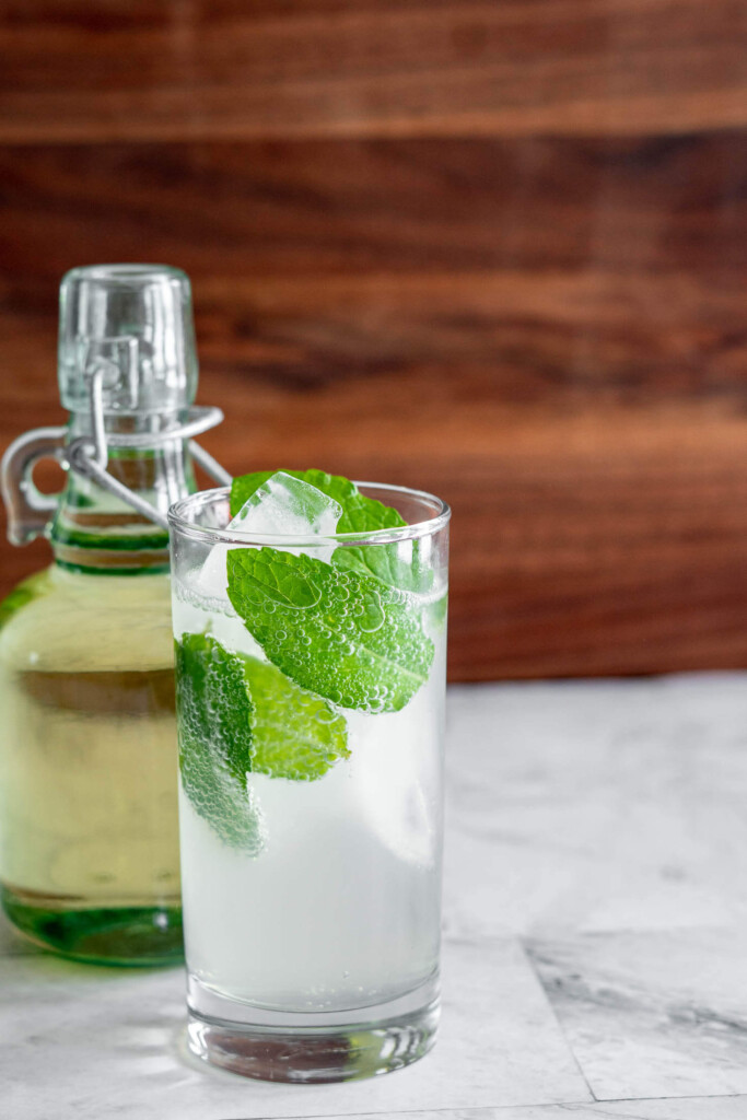 Mojito made with smoked simple syrup.