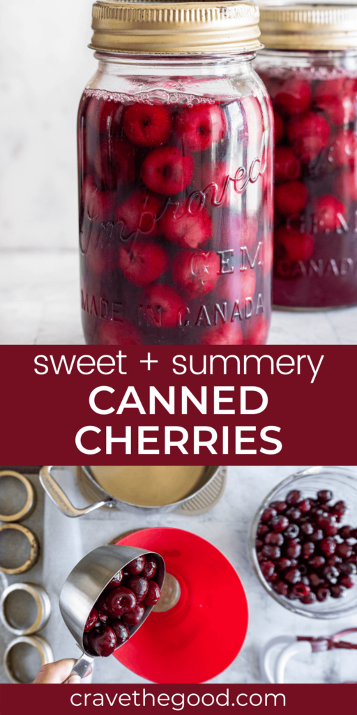 How to can cherries pinterest graphic.